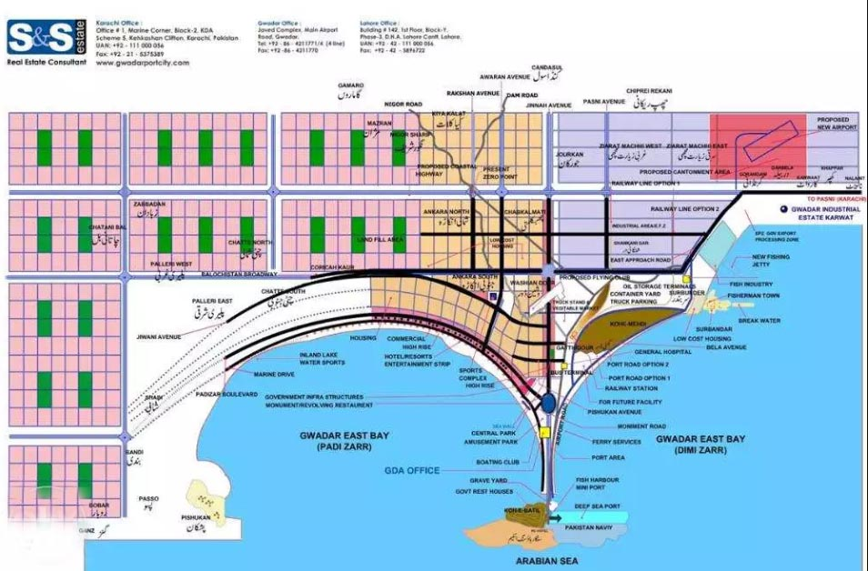Marin Drive commercial plot in creek City Gwadar