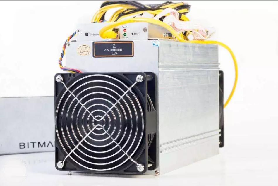 Bitmain Antminer L3+ 504MH/s 800w Litecoin Scrypt Miner — NEW in Stock