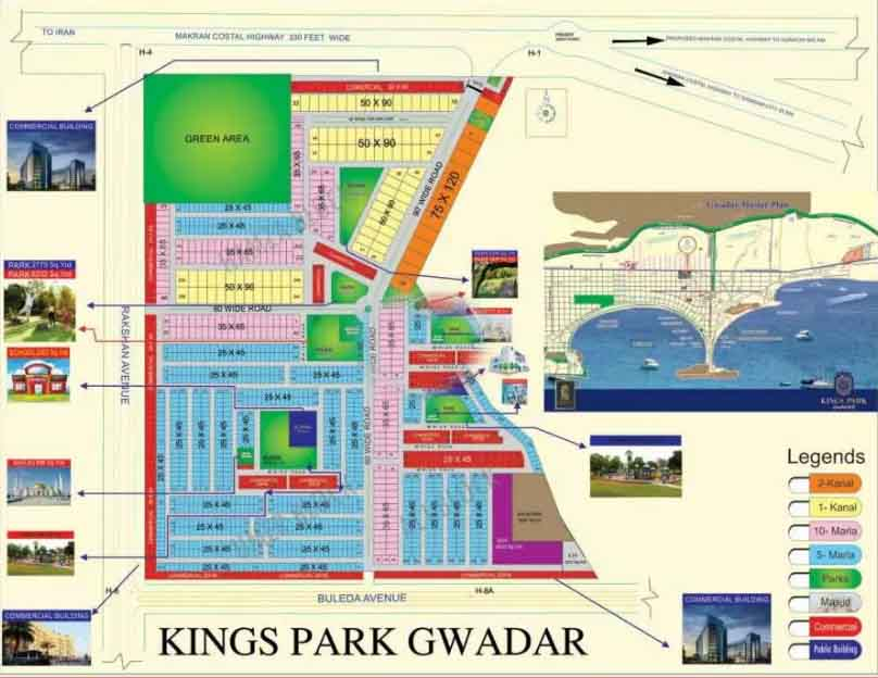 5 Marla residential plot available for.sale in Kings Park gwadar